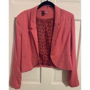 H&M Cropped Pink Blazer